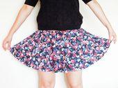 DIY tutorial: Sew a skater skirt via DaWanda.com  – vêtement de femme