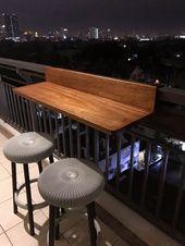 Tolle Balkonbar, die Sie lieben werden – Etta Petersen – Diy – Kleiner Balkon