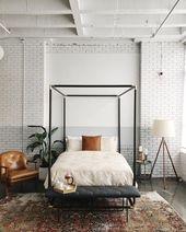 Inspiration für ein modernes Bauernschlafzimmer m…