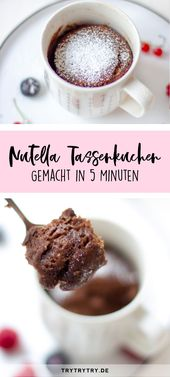 Nutella Tassenkuchen – schnell und einfach zubereitet