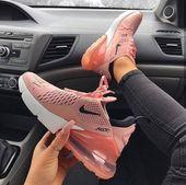 Nike Air Max 270 Damenschuh in Pink, Schwarz und Weiß. Eines der populärsten