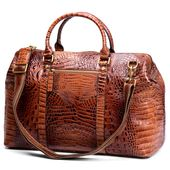 Alligator Looking Leather Travel Bag | In stock! | Delton Bags