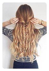 104 Einfache Ideen für Fischschwanzgeflechte und ihre schrittweise Anleitung – Frisuren – Trend Frisuren – Haar Modell