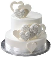 Fancy Scroll Hearts Made of Gum Paste 12ct for Weddings and Cake Decorating – Ships Insured – Hochzeitstorten