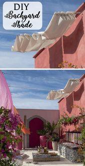 22 einfache DIY Sonnenschutz Ideen für Ihren Garten oder Terrasse – Dekoration ideen