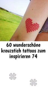 60 wunderschöne kreuzstich tattoos zum inspirieren 74