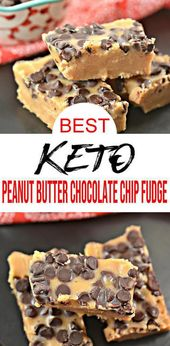 Keto Fudge! BEST Low Carb Keto Peanut Butter Chocolate Chip Fudge Idea – Quick & Easy Ketogenic Diet Recipe – Completely Keto Friendly