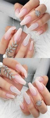 ✔ 61+ Trendy Glitter Coffin Designs, die dem Geschmack jeder Frau entsprechen   – Nails