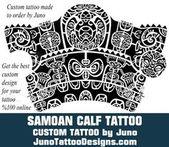 Samoan calf tattoo, polynesian calf tattoo, tribal tattoo, juno tattoo designs   – тату