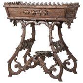 1stdibs Pedestal – 19Th Century Plant Stand Jardinière Carved Wood German Black Forest Chestnut