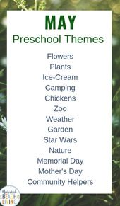 May Preschool Themes with Lesson Plans and Activities – Natural Beach Living,#activities #beach #les…