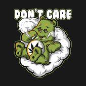 Karo heraus dieses fantastische Marihuana-Unkraut-T-Shirt-rauchender Bär Don% 27t Ca … – EASY BABY!