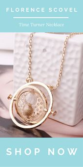 Rotating Time Turner Necklace ⏳