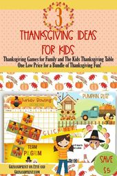 Thanksgiving Games / Thanksgiving Game / Thanksgiving Games for Kids / Thanksgiving Party Game / Classroom Games / Turkey Party Game / Fall – GRIN AND PRINT PARTY SUPPLIES FOR KIDS