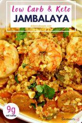 Keto Jambalaya Recipe with Cauliflower Rice