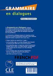 Grammaire En Dialogues Pdf Niveau Intermediaire Livre Cd Audio Gratuit Et Les Corriges