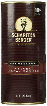 Scharffen Berger (Scharffenberger) Natural Cocoa Powder – Hot Chocolate & Baking…