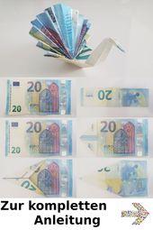 Pfau aus Geld falten – Anleitung – So faltest Du einen Pfau aus einem Geldschein