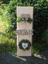 Tür- & Namensschilder – ♥♥ XXL Türschild Säule mit Name schäbig 80 cm ♥ … – Namensschilder Türschilder