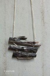 Minimalist Natural Driftwood Necklace – #mini …