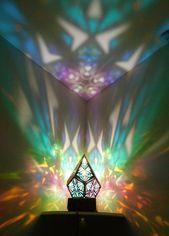Smaragd Prisma Lampe. Marokko Lampe. Pyramide. Nac…
