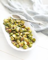 Parmesan Lemon Roasted Brussels Sprouts – Fraiche Nutrition   – Vegetarian dishes