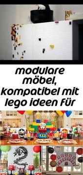 Modulare Möbel, die mit Lego-Ideen für Ihr Interieur kompatibel sind 123   – Lego