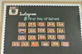 #FirstDayofSchool – Instagram Inspired B2S Bulletin Board Idea