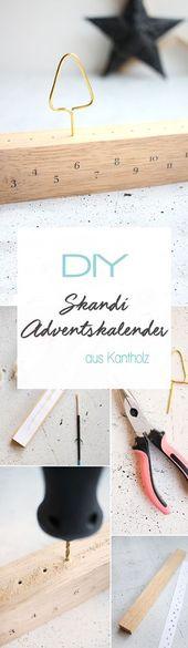 Do it yourself: Schlichter Adventskalender aus Kantholz basteln