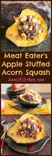 Meat Lover's Apple Stuffed Acorn Squash