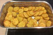 Amerikanische Parmesankartoffeln, soy a menudo gebraten  – Essen und trinken
