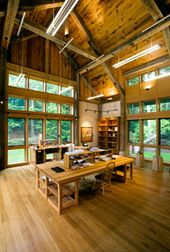 Illustrator Workspace Large work room with high vaulted ceilings SLC INTERIORS - Interior Design - Wes...