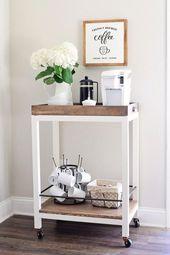 Coffee Bar Cart DIY und Styling – The. Homestead. …