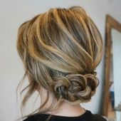 60 Trendy Hochsteckfrisuren für mittellanges Haar - Haarideen - #Haar #Ideen #Länge #Mittel #Trendigste