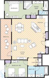 Bonnet Creek 2 Bedroom Presidential Suite In 2020 Bonnet Creek House Rental Cabin Plans