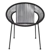 Cocktail Sling Garden Chair in Black by Woood