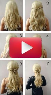 Simple and romantic hairstyle – #ponytail hairstyle #Romantic #simple #hairstylessimple …