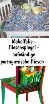Möbelfolie – fliesenspiegel – aufwändige portugiesische fliesen – möbel klebefolie 29