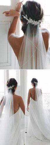 Top 20 Hochzeitsfrisuren mit Schleier und Accessoires, #Brautfrisuren #frisuren #hochze …