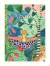 'Jungle Leopard Family!' Art Print by Amber Davenport