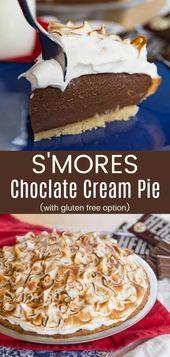 S'Mores Chocolate Cream Pie – ein reichhaltiges und cremiges klassisches Dessertrezept für jedermann …