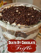 Zum Nachtisch: Death By Chocolate Trifle – Stücke einer Mutter