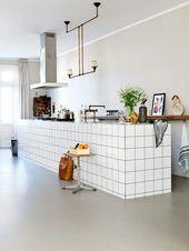 Weiße Fliesen im Metro-Stil in Bädern und Küchen