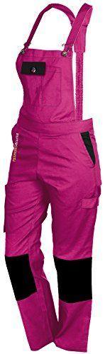 Lady Latzhose In Pink Latzhose Arbeitshosen Hosen