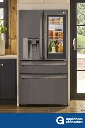 Lg Lmxc23796d 36 Inch Black Stainless Steel Counter Depth French Door Refrigerator In Black Stainless Steel In 2020 Home Appliances French Door Refrigerator Counter Depth French Door Refrigerator