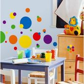 RoomMates – Grundfarben Just Dots Peel & Stick Wandtattoos, Multicolor  – Kid room decor