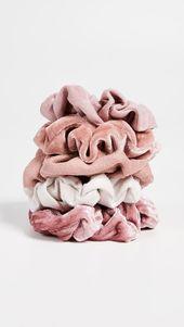 Kitsch Velvet Scrunchies – Pink – #Kitsch #Pin…