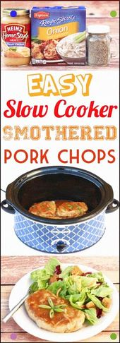 Crockpot Pork Chops Recipe This Easy Slow Cooker Dinner Is Just 5 Ingredients An…