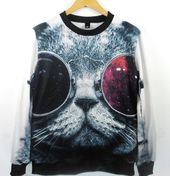 EAST Knitting WY-042 2014 womens New 3D digital print pullovers harajuku style h…