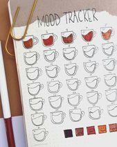 30+ Unique Bullet Journal Mood Tracker Ideas to Ke…